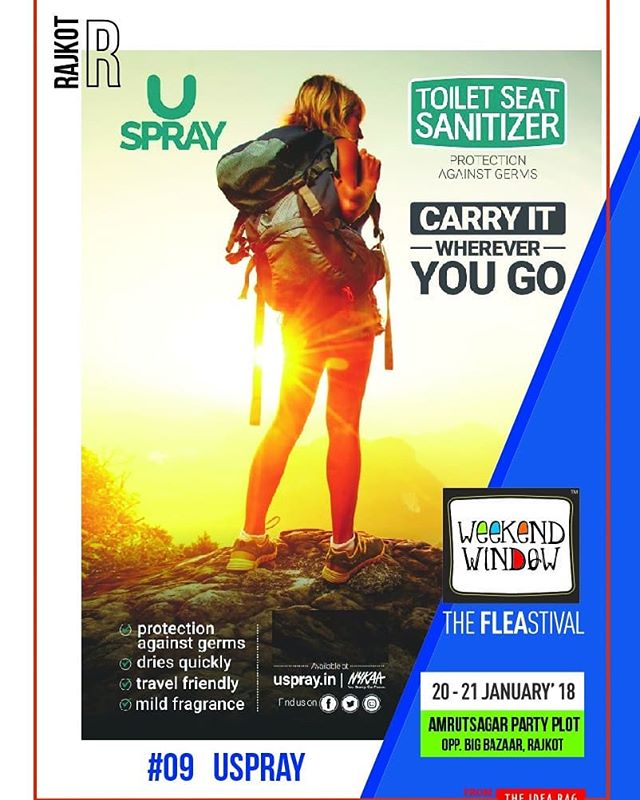 USPRAY is a safe, effective & instant toilet seat sanitizer. It comes with a pleasant fragrance. It can also be used on faucets, flush, knobs & handles. Fits your Pocket | Travel Friendly | Washroom Essential