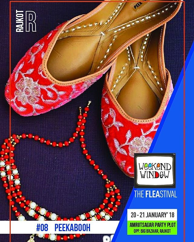 @peekabooh  PEEKABOOH, our very own Baroda brand, is all about stylish and intricately designed footwear for all your occasions - Indian as well as formal  CHAUKHAT, a range of contemporary interiors with an amazing combination of class, funk and ethnicity at price that suits your budget.  Date: 20-21 January, 2018 Time: 4 PM to 11:00 PM Venue: Amrutsagar Party Plot  #weekendwindow #theFLEAstival #theunbeatable #shop #explore #indulge #fleamarket #workshops #love #BeardoWeekendWindow