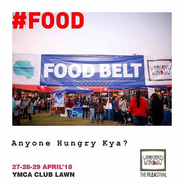 Hunger pangs? We gotcha! Explore the amazing food menu at the Food Belt curated by our very own @foodaholicsinahmedabad  #fiafinds #foodaholicsinahmedabad #weekendwindow #foodlovers #foodies #receipes #freshtake #happiness #ahmedabad #fleastival #ww #thefleastival
