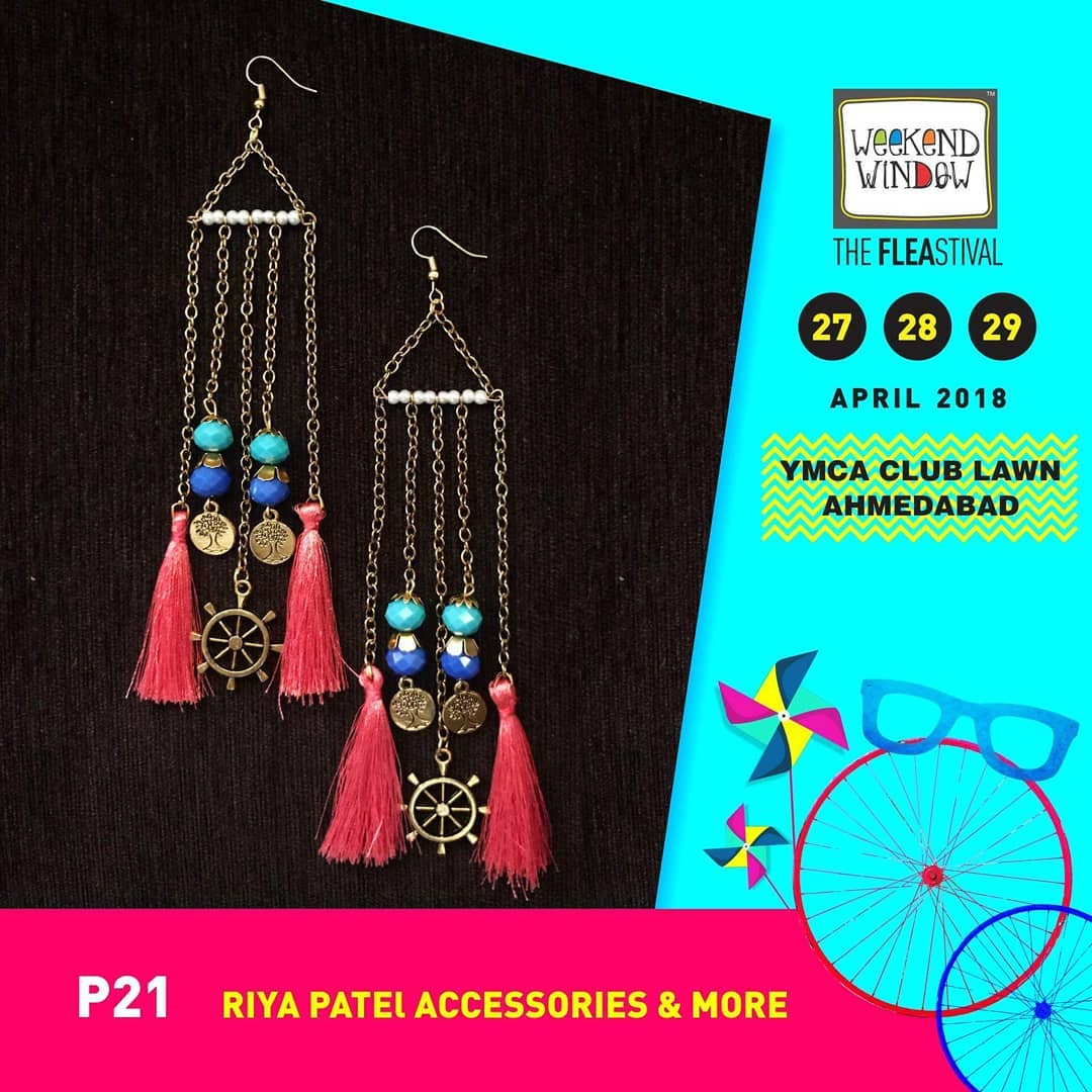 @accessoriesbyriya is all about handcrafted accessories. You will find everything from Head to toe including headgears, necklace, earring, handharness, anklets and much more. Launching their Saptah collection which has earring for each day of a week, we are excited to have them at @weekendwindow - XIII Summer Edition!  #weekendwindow #ww13 #summeredition #handmade #jewellery #accessories #saptah #earrings #allweeklong