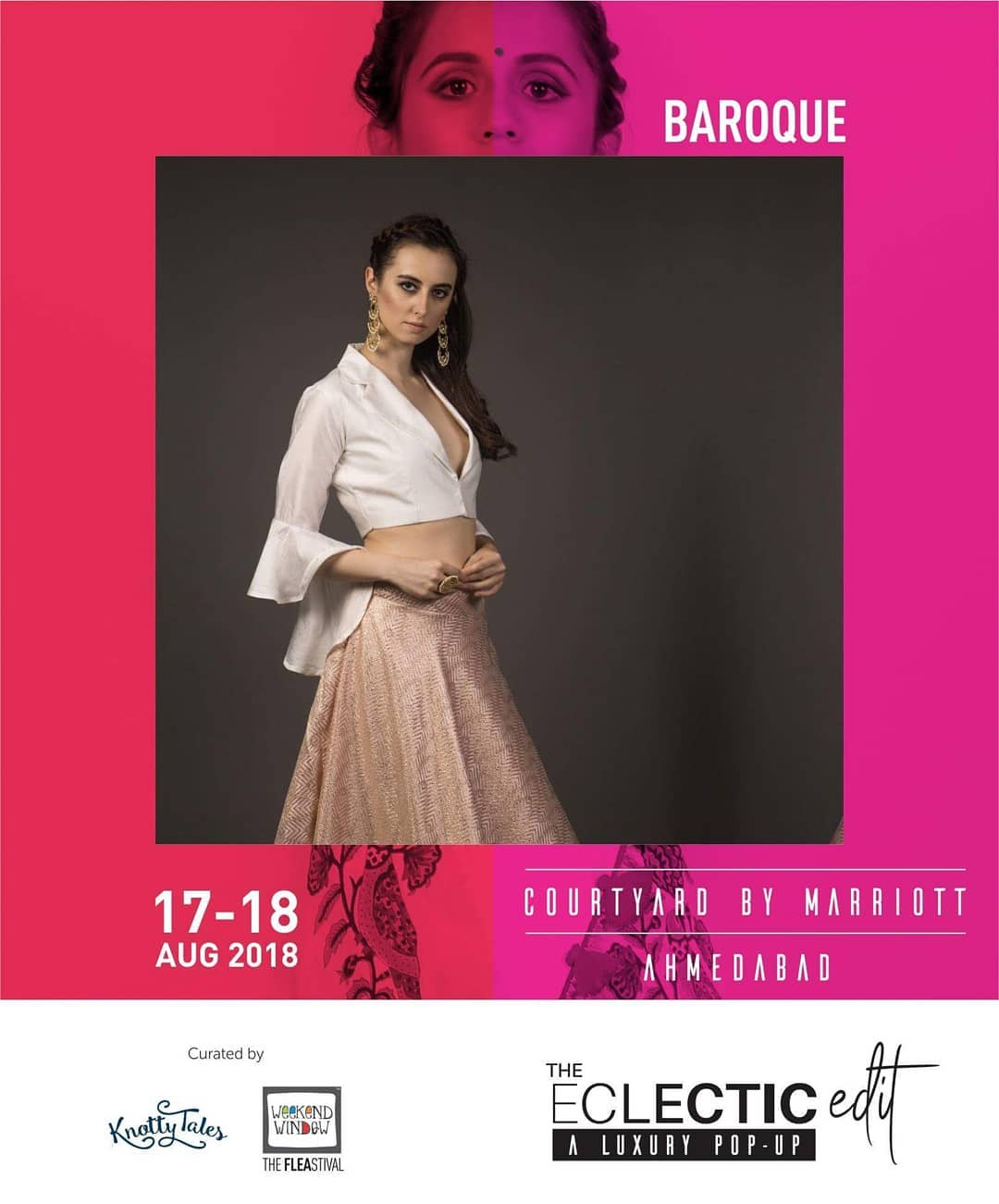 A design house based in Delhi, @baroque_by_preeti_batra  has been evolved into an indo-cocktail evening wear brand. Their fancy evening saris and skirts are stunning and mezmerising! We can't wait to share this shopping experience with you.. 65+ brands showcasing at The Eclectic Edit curated by @knottytales_kt & @weekendwindow .  #cocktail #indowestern #collection #delhi #designer #mezmerising #intricate #cuts #theeclecticedit #knottytales #weekendwindow #shopping #luxuryshopping #style #fancy
