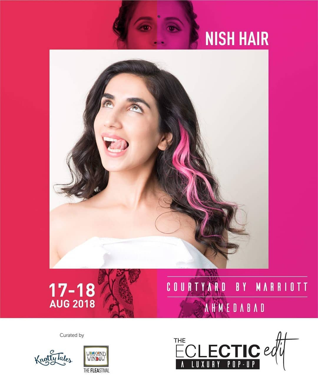 Super comfy, real hair, clip on hair extensions from @nishhair gives your hair length, volume, color and so much more of confidence, positivisty and empowerment! They are just as excited as we are to be in Ahmedabad at The Eclectic Edit - season 3!  17th-18th August, 2018 at Courtyard by Marriott. 65+ designers showcasing for all your festive collection needs.  #theeclecticedit #knottytales #weekendwindow #luxuryshopping #popup #festive #shoptillyoudrop #designers #hairextensions #hairvolume #haircolor #clipons #beauty #fancy