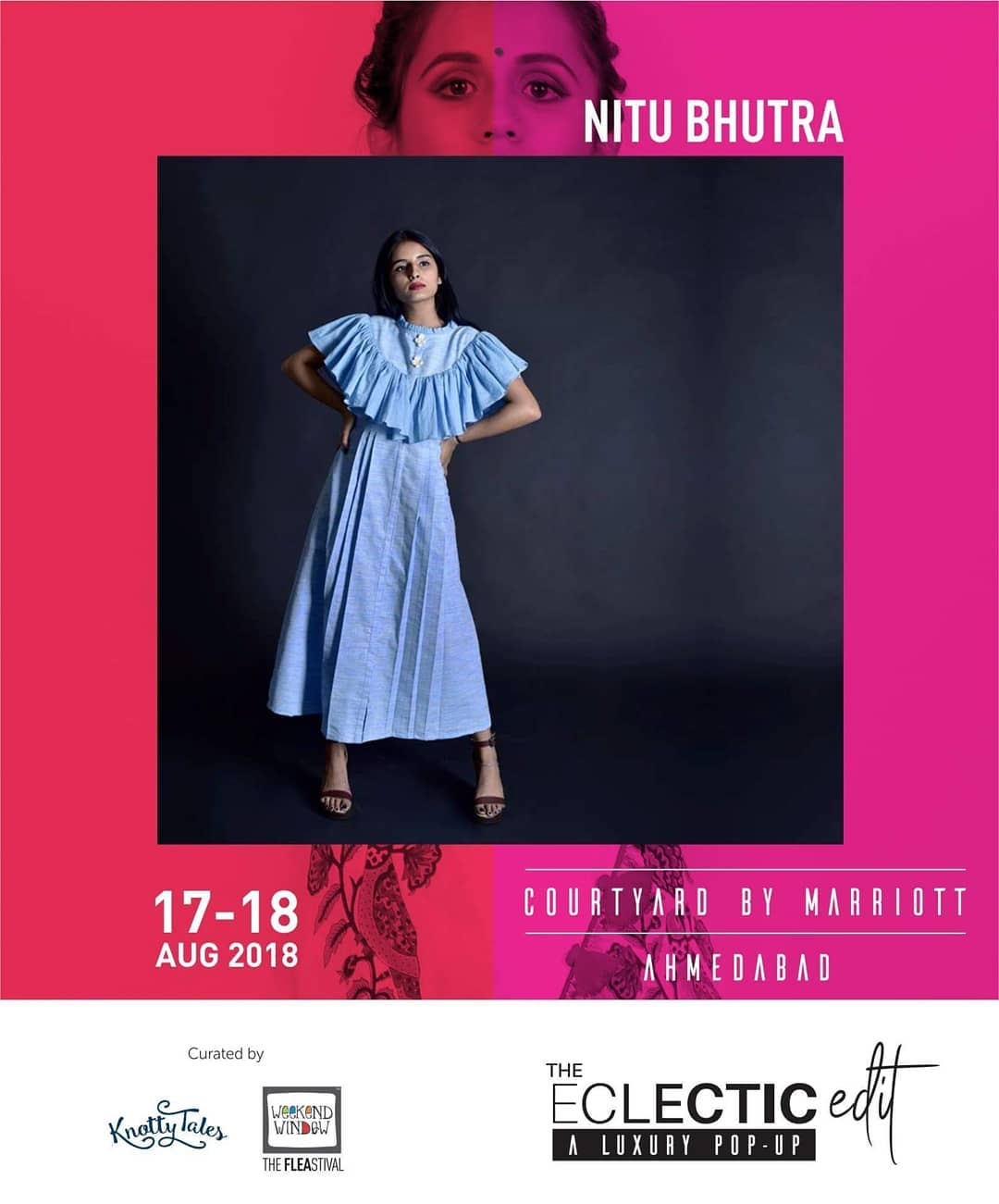 Fashion is very important. It is life-enhancing and, like everything that gives pleasure, it is worth doing well. Explore the collection of Nits Creations by designer @nitu_bhutra of women's designer wear that are well crafted and rich om craftsmanship!  Showcasing 65+ designers this 17th-18th August at The Eclectic Edit - Season 3 curated by Knotty Tales & Weekend Window at Courtyard by Marriott Ahmedabad.  #handblockprint #handmade #sustainable #upcycle #instafashion #indiantextile #textile #modernisingindiantextile #luxurydailywear #theeclecticedit #knottytales #weekendwindow #luxury #popup #festive