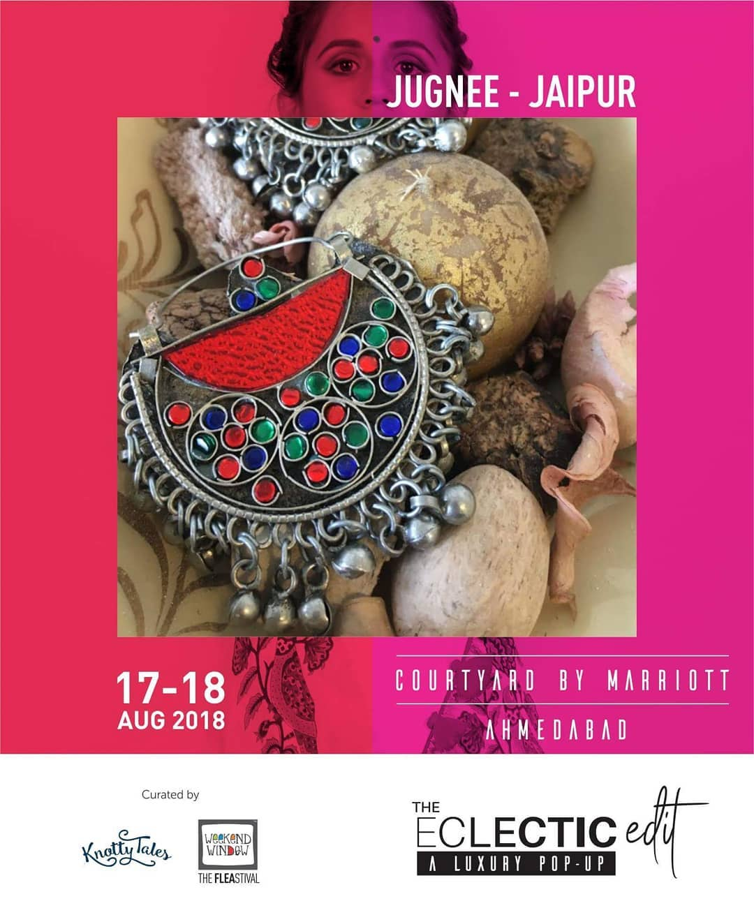 @jugnee_by_vallari is specialized in handcrafted luxury fashion & trendy tribal jewellery. They bring to you the essence of Jaipur in its truest form  Showcasing with 65+ designers this 17th-18th August at The Eclectic Edit - Season 3 curated by Knotty Tales & Weekend Window at Courtyard by Marriott Ahmedabad . . #ethnicwear #instagood #color #photooftheday #outfit #freedom  #elegant #accessories #classy #style #influencer #fashion #fashionista #instasyle #fashiondiaries #brillantkatiranga #jugneejaipur #weekendwindow #kottytales #theeclecticedit
