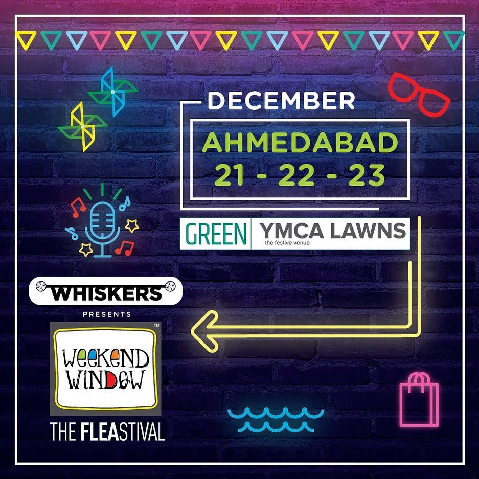 Winter brings its own charisma and warm festive feel. With this 14th edition of Weekend Window, get ready to experience: *170 curated pop-up brands from across the country *40+ new brands, showcasing first time at Weekend Window *30 lip-smacking food brands curated by Foodaholics In Ahmedabad *Music Bands, Stand-up Comedy, Disc Jockey *Workshops for Kids, Play Area Rides, Magicians, Board games, Carnival Games & lots of fun!! Can't wait to see you! Get booking already :D  #weekendwindow #theFLEAstival #festival #fleamarket #getcolorful #fashionweekend #windowtohappiness #shopping #food #music #flea #ahmedabad #ahmedabad_instagram