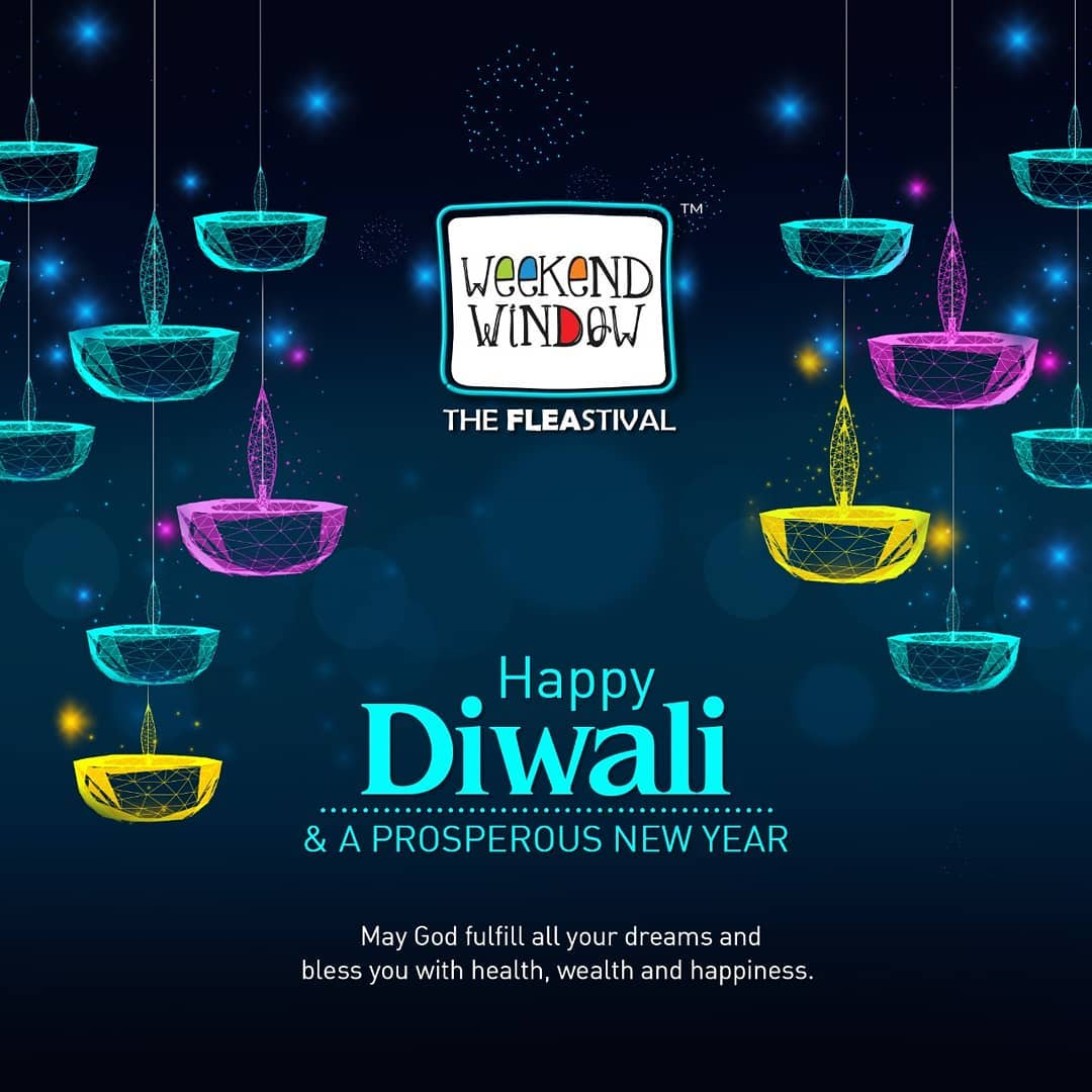 Diwali wishes from the happiest festival. May your days be filled with laughter, joy, lots of love and light. . . #weekendwindow #windowtohappiness #music #art #fleamarket #shopping #lifestyle #apparels #ahmedabad #events #theFLEAstival