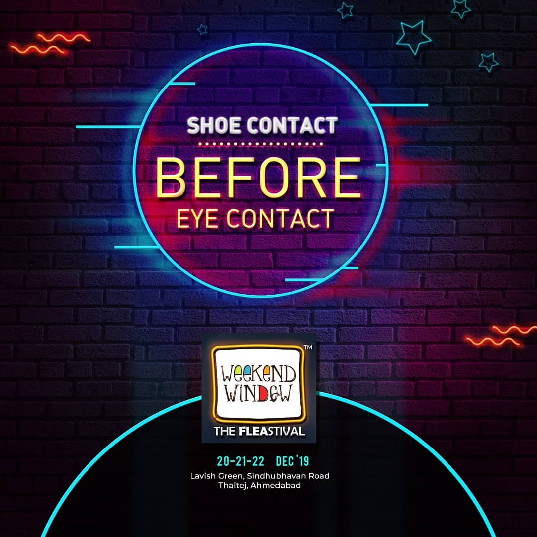 You're not fully dressed until you have your shoe game on point. Explore and splurge on a buffet of footwear at Weekend Window! . . Date: 20-21-22 December, 2019 Venue: Lavish Greens, Opp. Juggernaut Cafe, Sindhu Bhavan Road. . . #weekendwindow #windowtohappiness #music #art #shopping #apparels #lifestyle #theFLEAstival #memories #ahmedabad #events #weekendsinahmedabad #christmas #fleamarket