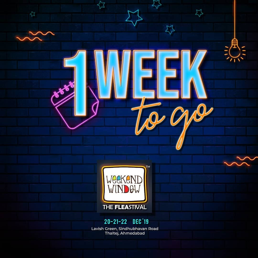'Tis the season of festivities. 'Tis the season of Weekend Window! See you shoppers next week! . . Date: 20-21-22 December, 2019 Venue: Lavish Greens, Opp. Juggernaut Cafe, Sindhu Bhavan Road. . . #weekendwindow #windowtohappiness #music #art #shopping #apparels #lifestyle #theFLEAstival #memories #ahmedabad #events #weekendsinahmedabad #christmas #fleamarket