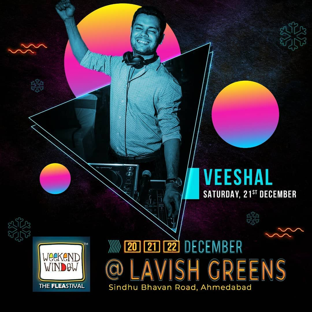 Get ready to tap your feet, snap your fingers and shimmy to non-stop music! . . Date: 20-21-22 December, 2019 Venue: Lavish Greens, Opp. Juggernaut Cafe, Sindhu Bhavan Road. . . #weekendwindow #windowtohappiness #music #art #shopping #apparels #lifestyle #theFLEAstival #memories #ahmedabad #events #weekendsinahmedabad #christmas #fleamarket