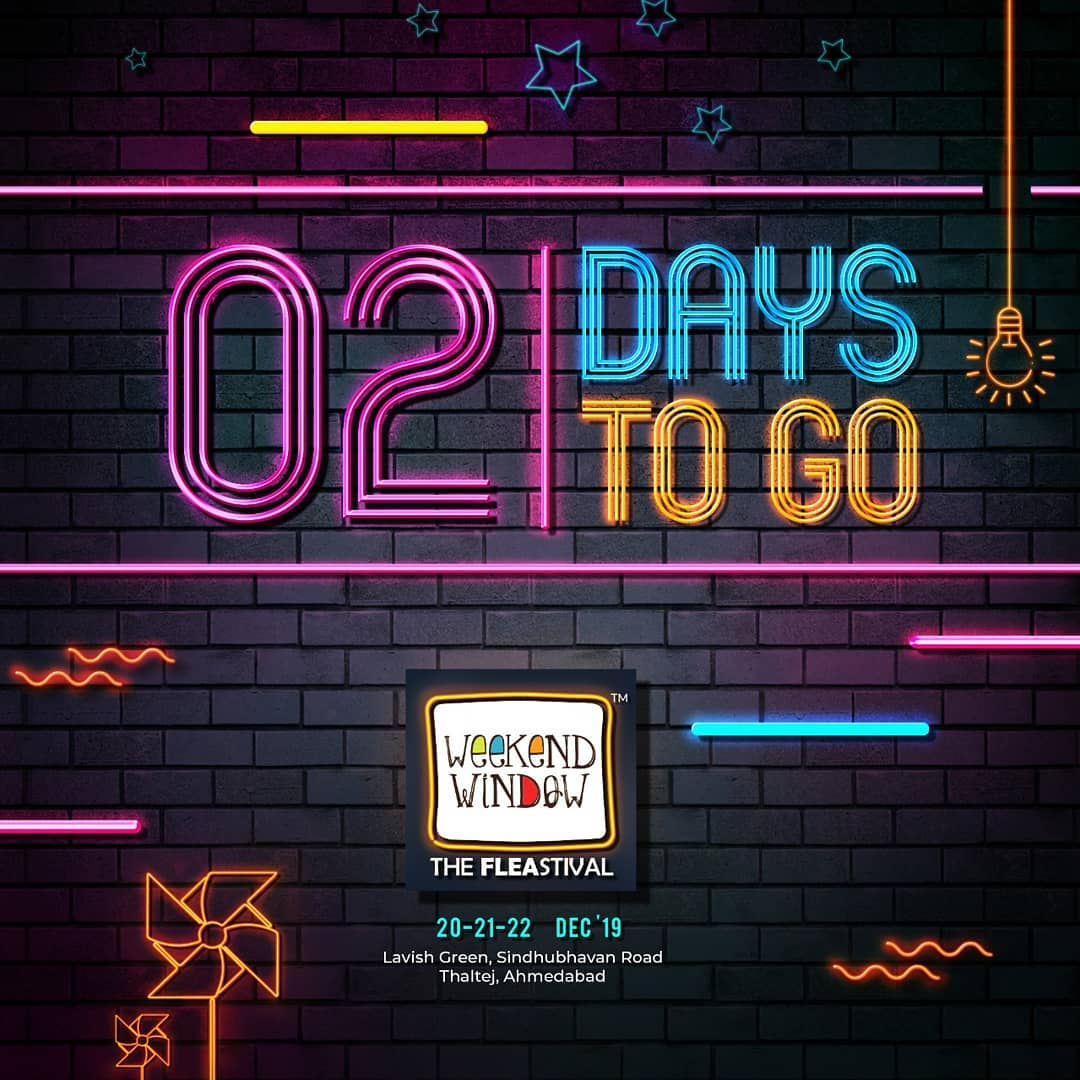 No time to keep calm because only 2 days to go for the happiest FLEAstival of the town. Get ready to handle the amazing crazy vibe with Weekend Window! . . Date: 20-21-22 December, 2019 Venue: Lavish Greens, Opp. Juggernaut Cafe, Sindhu Bhavan Road . . #weekendwindow #windowtohappiness #music #art #shopping #apparels #lifestyle #theFLEAstival #memories #ahmedabad #events #weekendsinahmedabad #christmas #fleamarket