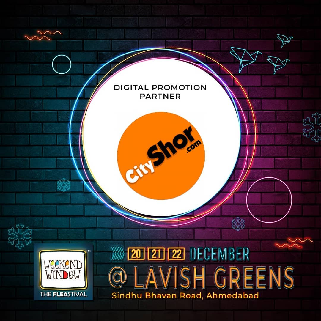 Weekend Window is happy to associate with @cityshorahmedabad as our digital promotion partner . . With amazing brand pop-ups, hogging stations, workshops, music and performances- this Weekend Window gets bigger, better and crazier. Mark your dates . . . . Date: 20-21-22 December, 2019 Venue: Lavish Greens, Opp. Juggernaut Cafe, Sindhu Bhavan Road . . #weekendwindow #windowtohappiness #music #art #shopping #apparels #lifestyle #theFLEAstival #memories #ahmedabad #events #weekendsinahmedabad