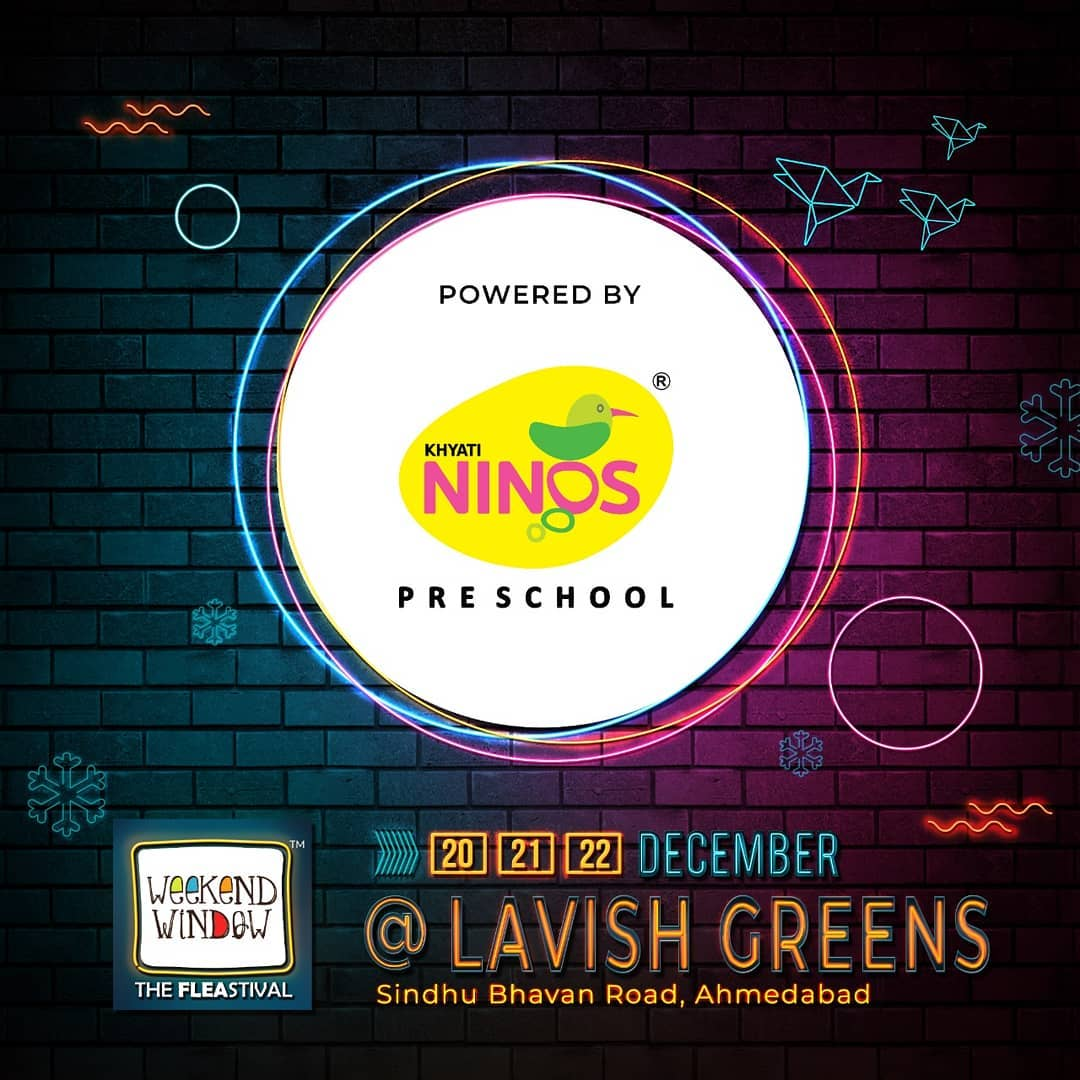 Weekend Window is powered by @khyatininos . . With amazing brand pop-ups, hogging stations, workshops, music and performances- this Weekend Window gets bigger, better and crazier. Mark your dates . . . . Date: 20-21-22 December, 2019 Venue: Lavish Greens, Opp. Juggernaut Cafe, Sindhu Bhavan Road . . #weekendwindow #windowtohappiness #music #art #shopping #apparels #lifestyle #theFLEAstival #memories #ahmedabad #events #weekendsinahmedabad