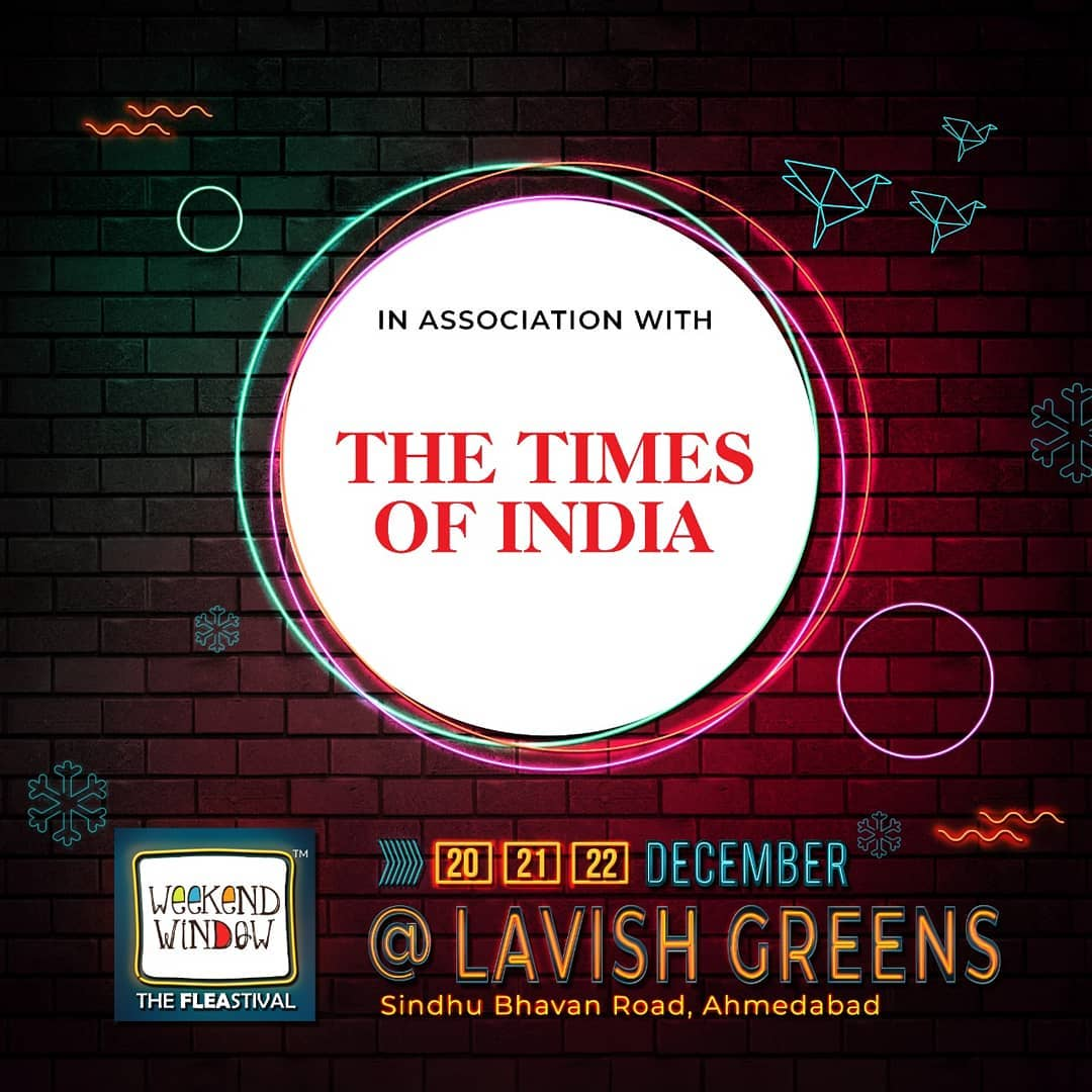 Weekend Window is happy to associate with @ahmedabadtimestoi . . With amazing brand pop-ups, hogging stations, workshops, music and performances- this Weekend Window gets bigger, better and crazier. Mark your dates . . . . Date: 20-21-22 December, 2019 Venue: Lavish Greens, Opp. Juggernaut Cafe, Sindhu Bhavan Road . . #weekendwindow #windowtohappiness #music #art #shopping #apparels #lifestyle #theFLEAstival #memories #ahmedabad #events #weekendsinahmedabad