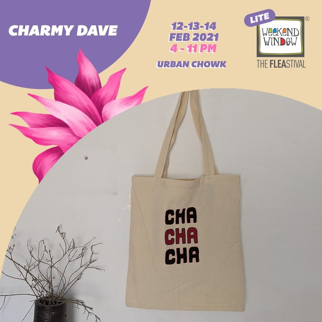 @charmy.dave.cd is a Gujarat based brand specializing in all kind of Gujarati textiles creating eclectic deisngs foraying in fusion spectrum of handcrafted tote bags. Their cool collection is going to be an all time hit at Weekend Window on 12-13-14 February at @urbanchowk   #weekendwindow #fleamarket #shopping #totebags #gujaratitextiles #handcrafted #shop #explore #food #indulge
