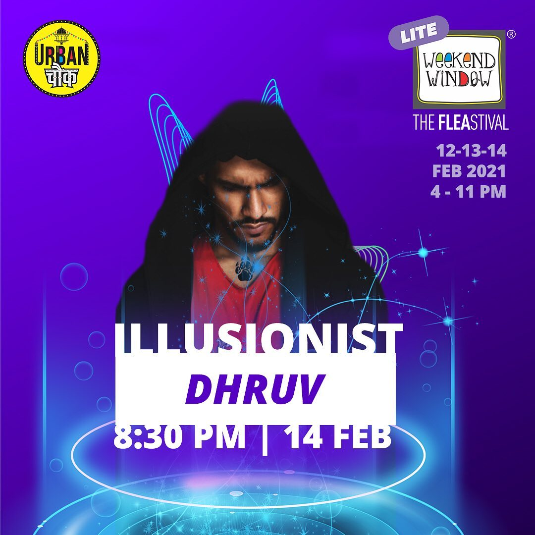 If you haven't had enough of @dhruvmagic 's magic tricks last evening, we have more in store for you. Experience the magical evening with us at @urbanchowk   Last day today!  #magic #illusion #dhruv #weekedwindow #windowtohappiness #ahmedabad #fleamarket #shopping