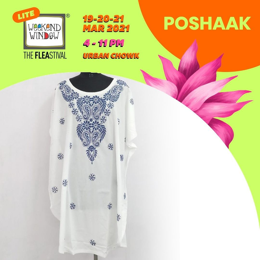 @p@poshaak.212 stands for telling stories in a Cultural way. They specialize in offering a custom look for all sorts of occasions in Lucknowi Chikankari, Ikkat, Tangaliya, and Jaipuri fabrics. #weekendwindow #windowtohappiness #flea #ahmedabad #weekendplans #organicfabrics #shop #explore #indulge #exhibition #shopping #fleamarket #fun #sorted