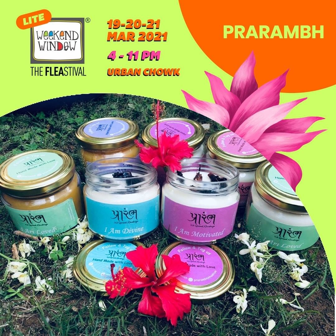 @prarambhkhushiya has put together a 100% chemical free range of personal care products extended to wellness range out of pure soy & bees wax. With ingredients like lavender, chamomile, ylang ylang and more, these smell divine!  #weekendwindow #fleamarket #shopping #windowtohappiness #shop #explore #indulge #ahmedabadweekend #candles #bathbombs #bathscrubs #bodyscrubs